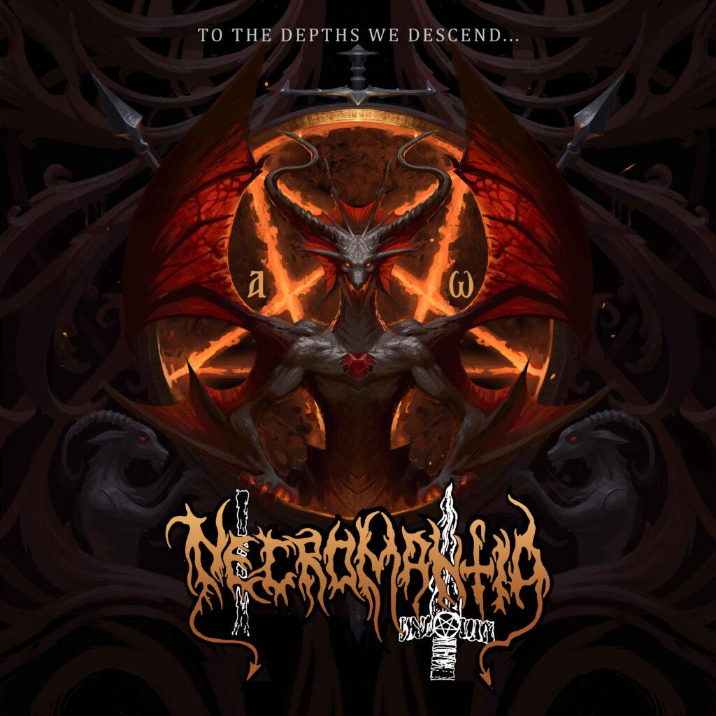 "Necromantia's new cover for ""To The Depths We Descend…"" farewell album!"
